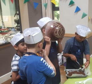 Children cooking party