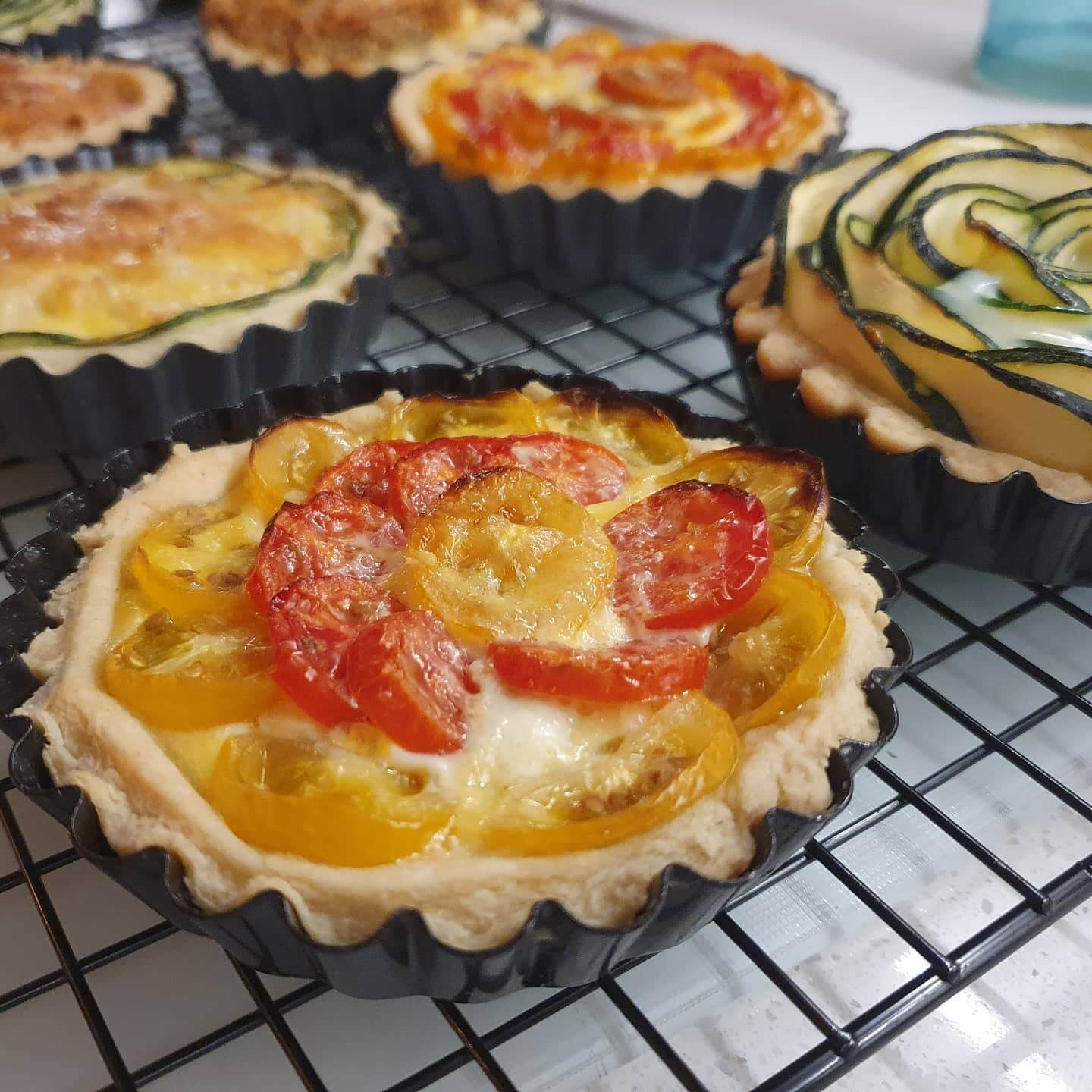 vegetable quiche online cooking class