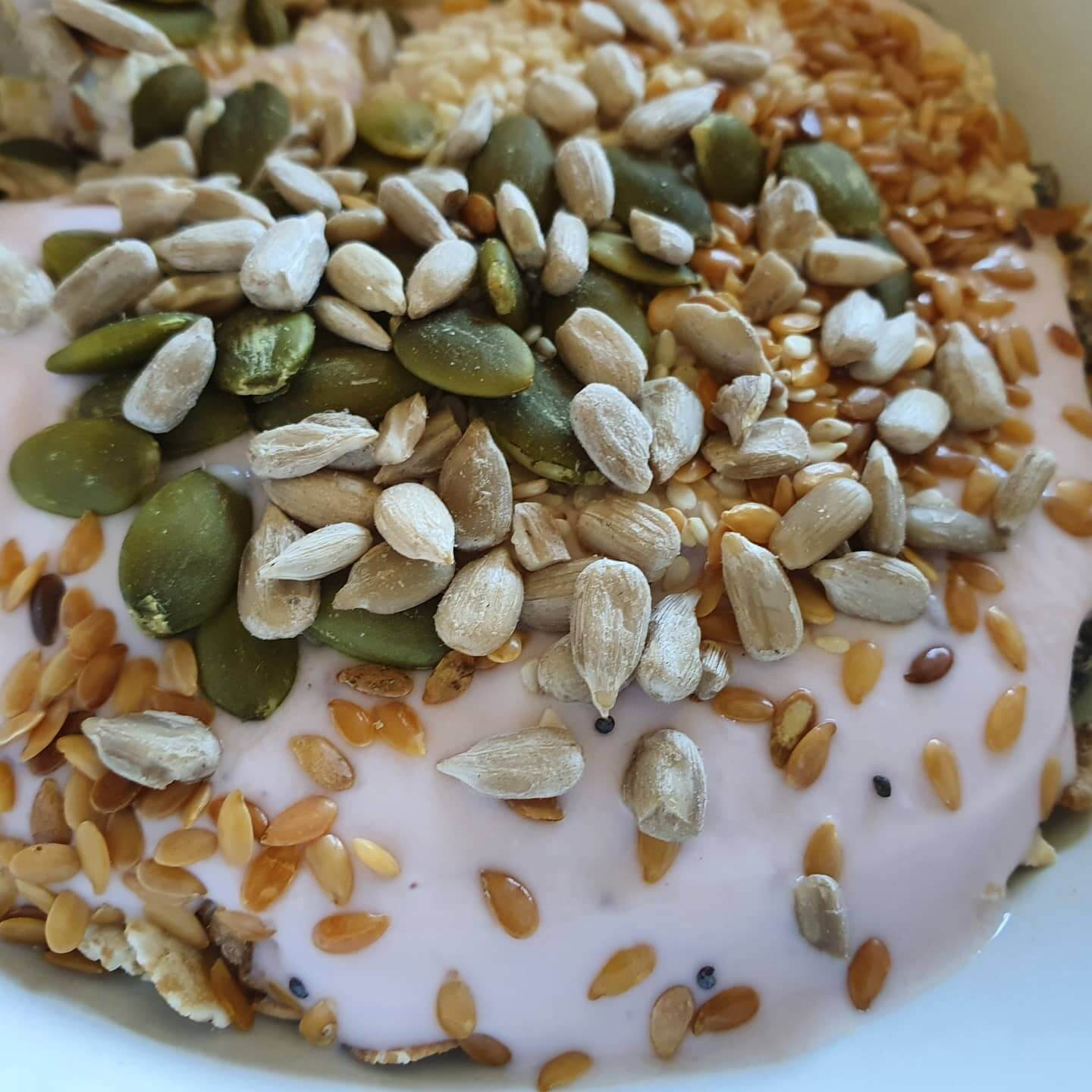 nuts seeds and yoghurt